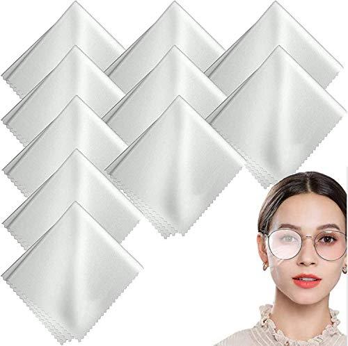 TLING 10 Stück Anti-Fog-Tuch Mikrofasern Reinigungstücher, Nano Brillenputztuch Antibeschlag für Brillen, Sonnenbrillen, Kameraobjektiven, iPad, Handys, Android-Telefonen, Laptops und Anderen