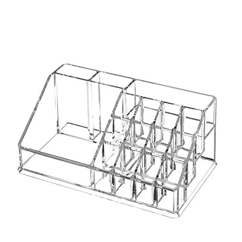 Ruiting Klares Lippenstift Halter Makeup Organizer Kosmetik-Speicher-Halter Tabelle Nagellack-Bürste Organizer Box