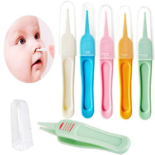 Baby Nasenpinzetten,Biluer 25PCS Baby Pinzette Baby Nose Clean Clip Baby Care Cleaner Baby Nasenreiniger für Neugeborene Ohren Reinigungswerkzeug(Weiß,Orange,Blau,Pink,Grün)