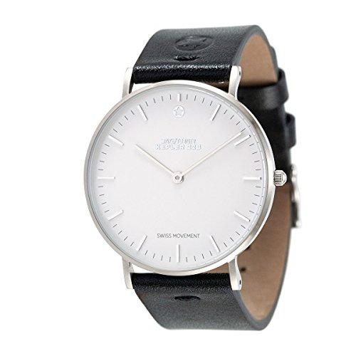 Daye/Turner Damen Uhr Analog Schweizer Uhrwerk mit Leder Armband DT-91SM12SL-33BK