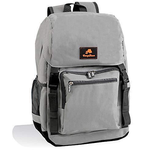 CampFeuer Kühlrucksack 20 Liter | leicht und wasserdicht | grau | Isoliertasche für BBQ, Camping, Strand und Outdoor Aktivitäten