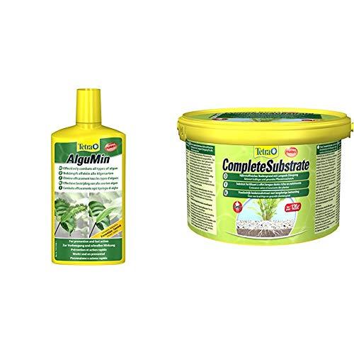 Tetra AlguMin (bekämpft schnell alle Arten von Algen und verhindert effektiv die Neubildung) & Complete Substrate für Pflanzenwachstum und weniger Wasserbelastung Neueinrichtung, 5 kg Eimer