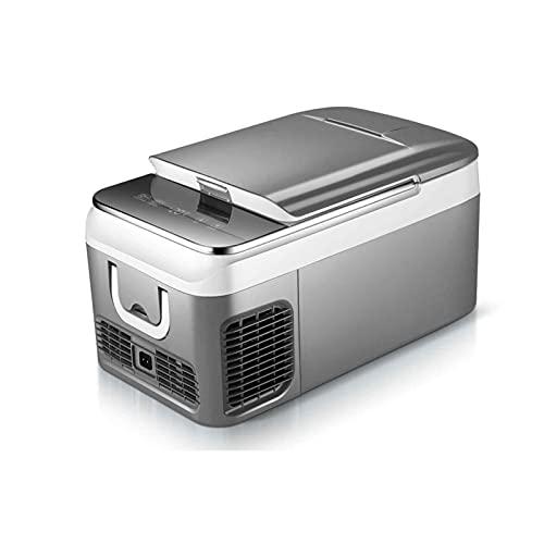 Nevera De Compresor Portátil, Refrigerador Automóvil De 18L / 26L,Doble Uso para Automóvil Y Hogar, Control De Temperatura con Pantalla Táctil, Refrigeración + Congelación
