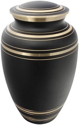 2021 Silverlight Product Urns Classic Onyx Brass Black Cremation Urn U