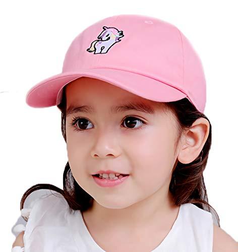 Gifts Treat Baby Baseballmütze Hut Scherzt Kinder Frühlings Sommer Sonnenhut Strand Hüte (Einhorn rosa, 54cm)