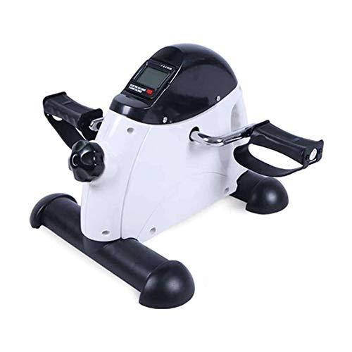 Mini stepper Mini portátil de bicicleta de ejercicios, entrenamiento de la pierna del pedal ejercitador de bicicleta con la exhibición de LED, equipo de entrenamiento de rehabilitación for personas ma