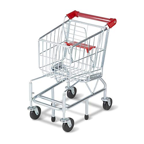 "Melissa & Doug Toy Shopping Cart with Sturdy Metal Frame, Play Sets & Kitchens, Heavy-Gauge Steel Construction, 23.25' H x 11.75"" W x 15' L"