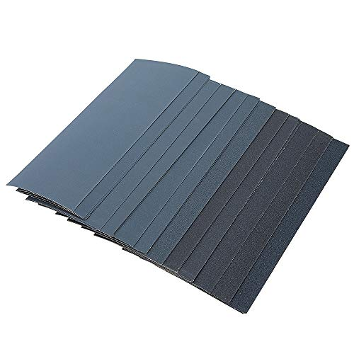 45PCS Abrasive Wet Dry Waterproof Sandpaper Sheets Assorted for Wood