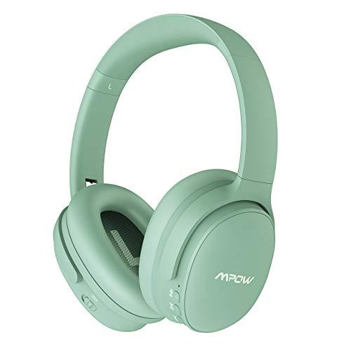 Mpow Thor Auriculares Diadema Bluetooth con Micrófono, Sonido Estéreo, Cascos Bluetooth Diadema con Micrófono para Videoconferencia, Auriculares Inalámbricos Diadema para TV/Móviles/PC, Negro