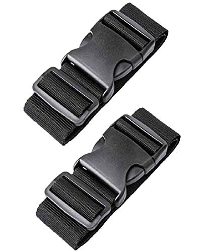 [2 Packs] Luggage Suitcase Straps, elloLife Upgraded Widened Adjustable(180cm x 5cm) Suitcase Belts for Travel Security, Handbags, Luggage, Totes, Briefcases, Carts, Wheeled Luggage etc.