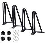 Qrity 4X Pies para Muebles de Metalizado, Patas para...