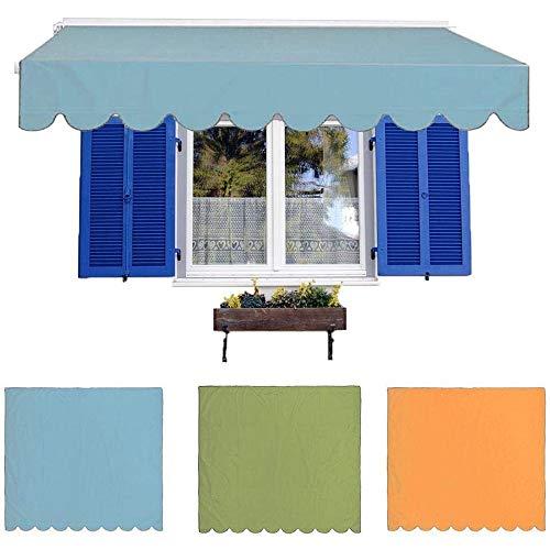 Rain City Ligera rectángulo Parasol Vela Protector Solar Toldo Toldo, Resistente al Desgaste Lluvia Dosel, jardín al Aire Libre Patios Pergola Patio Patio de Madera Piscina,Azul,2 x 1.5m