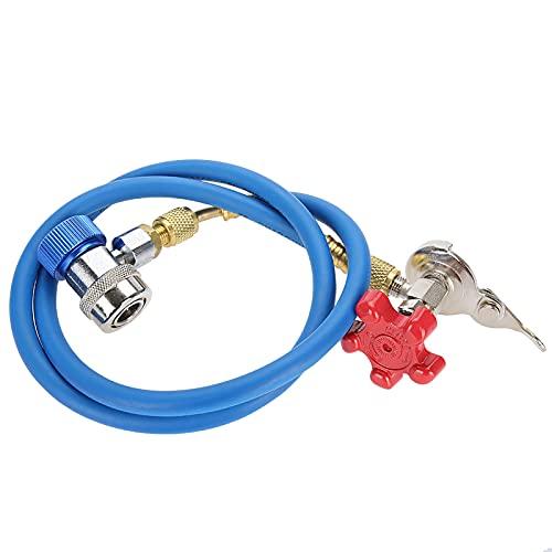 Manguera de recarga de refrigerante, R502 R-12 R-22 Manguera de recarga de refrigerante con conector rápido R134a Tubo de montaje de latas de gas
