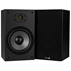 "Air Motion Transformer tweeter provides non-fatiguing, audiophile-level treble clarity 6-1/2"" woofer produces rich, punchy bass Compact, unobtrusive design with exceptional performance and value Black ebony pica vinyl cabinet finish for a clean, mode..."