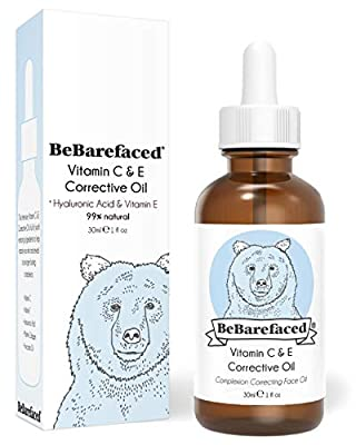 BeBarefaced Vitamin E Face Oil - Facial Vitamin C Night Serum With Hyaluronic Acid