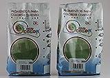 KITS dos bolsas de 500 g. Easy Color pigmento Verde 266. Pigmento para cemento, mortero y hormigón....
