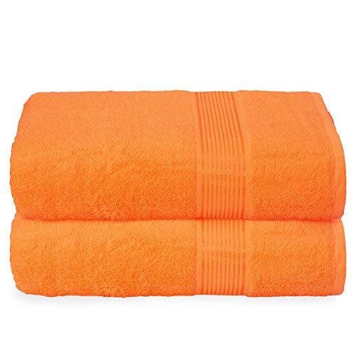 GLAMBURG Juego de 2 Toallas de baño de Gran tamaño, de algodón, 100 x 150 cm, Grandes Toallas de...