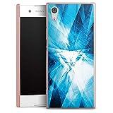 DeinDesign Handyhülle kompatibel mit Sony Xperia XA1 Cover rosé Gold Schutzhülle Kristall Spiegel Linien
