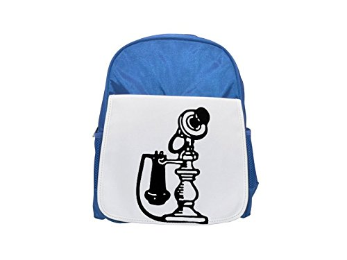 Antiguo candelabro estilo telephone. impreso Kid 's azul mochila, para mochilas, cute...