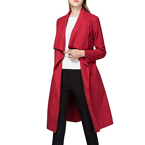 Buy NANTE Top Loose Women's Blouse Solid Color Irregular Belt Coat Cardigant Outerwear Overcoat Wome...