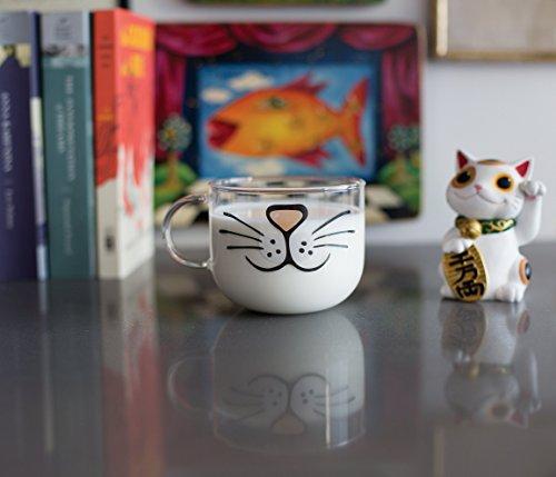 The Original Cat Beard Mug – Cute and Funny Glass Coffee Mug by Nacisse