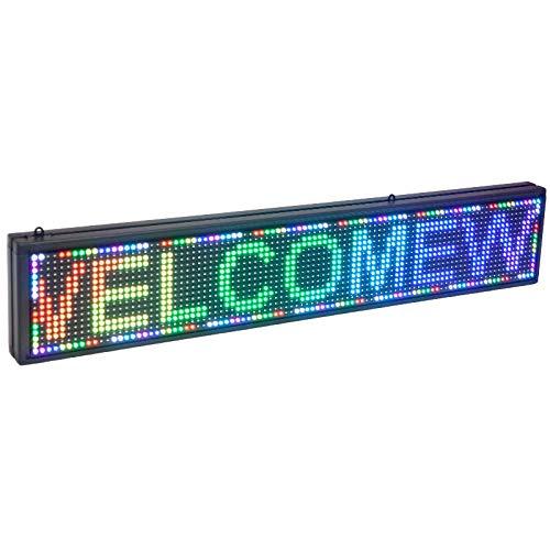 RÓTULO LED ELECTRÓNICO Aluminio Pantalla Letras RGB 100 CM X 20 CM X 5 CM