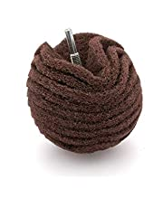 Bola de lija de fieltro abrasivo de 75 mm, grano 80