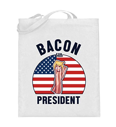Generisch Baconliebhaber Bacon Amerika USA Jutebeutel | Bacon for President Baumwolltasche