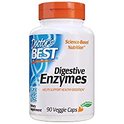 top 10 digestive enzyme supplement Doctor's Best Digest Enzyme, GMO Free, Vegetarian, Gluten Free, 90 Vegetarian Cap