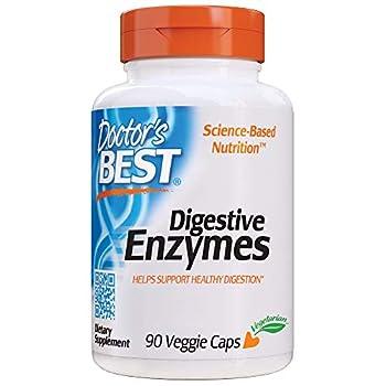 Doctor s Best Digestive Enzymes Non-GMO Vegetarian Gluten Free 90 Veggie Caps