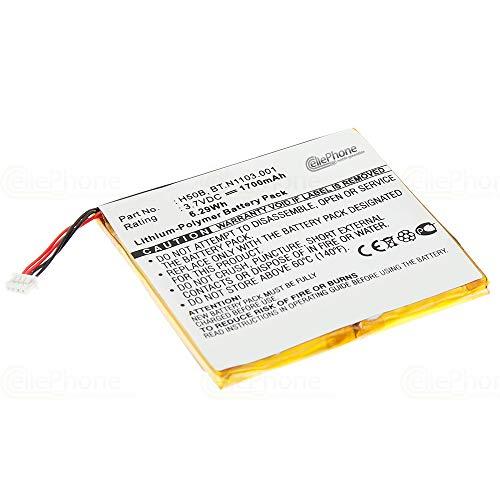 cellePhone Akku Li-Polymer kompatibel mit Acer N10 / Siemens Pocket Loox 600 (Ersatz für H50B / BT.N1103.001)