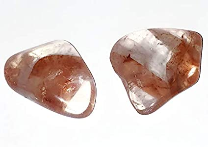 Fire Quartz Hematoid 2pc Set Medium/Large Top Quality Tumbled & Polished Natural Healing Crystal Gemstones from Madagascar