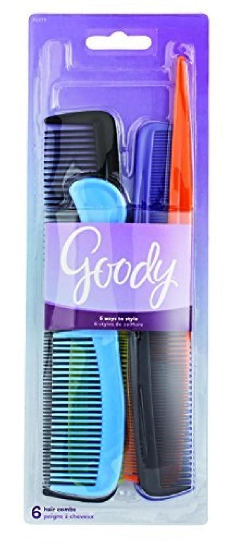 無人純粋な応援するGoody Styling Essentials Hair Comb 6 On, Family Pack, 1.357 Ounce (Pack of 3) [並行輸入品]