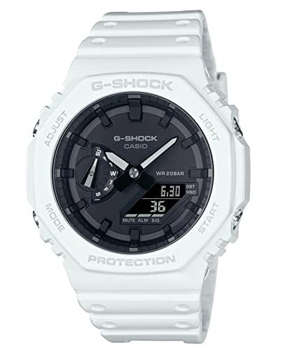 Reloj Casio G-Shock Carbon Core Guard Analogue Digital White GA-2100-7AER