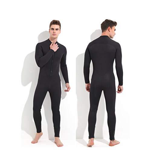 ALXDR Trajes Traje De Neopreno Completo 5MM Mono Traje De Buceo Snorkel Hombres, Cremallera Frontal, para Buceo Surf Snorkel Paddle,L