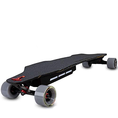 CuiCui Monopatín eléctrico Frenado multifunción Skateboard Tracción en Las Cuatro Ruedas Longboard...