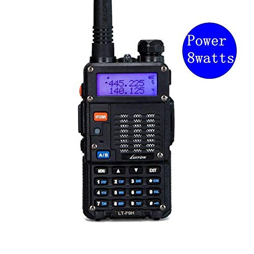 High Power Walkie Talkies 8-Watt Dual Band Two-Way Radio LT-F9H(136-174MHz VHF & 400-520MHz UHF) Includes Full Kit with Large Battery by Luiton