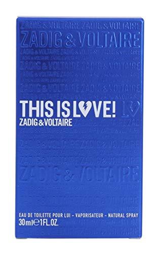 ZADIG&VOLTAIRE 30ML THIS IS LOVE HIM EAU DE TOILETTE VAPORIZADOR Unisex adulto, Negro