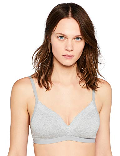 Amazon-Marke: Iris & Lilly Damen Gepolstert BH, Grau (Grey Marl), 90A Label: 34A