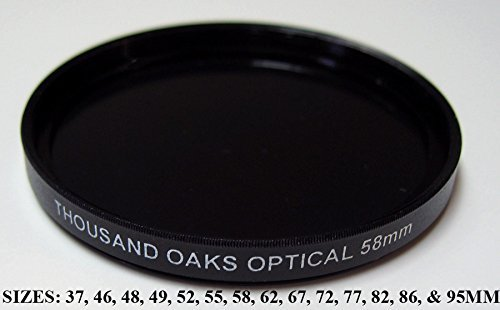 Threaded Black Polymer Solar Filter for Cameras, 72mm