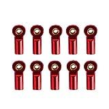 Jcevium 10 barras articuladas M3 para manillar, juntas, cabeza de bola, para 1/10 RC camión, coche, camión, cochecito, color rojo