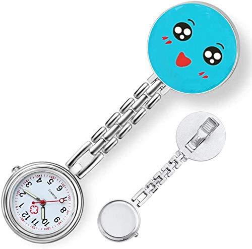 B/H Reloj De Bolsillo para Enfermera,Reloj de Bolsillo portátil para Enfermera con Pin, Reloj de Bolsillo para Batas de Personal médico-C