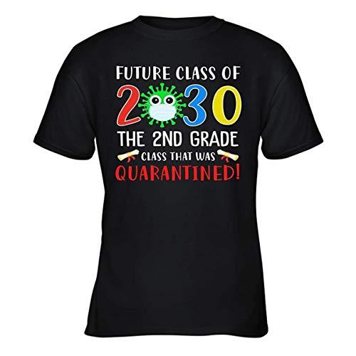 NOBRAND - Maglietta da ragazzo, classe futura del 2030, con scritta in quarantena, regalo dell'amicizia Nero L