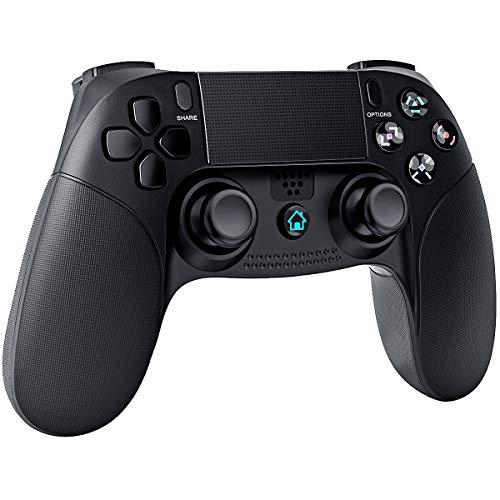 QULLOO Controller für P-S-4, Bluetooth Wireless Controller mit Dual-Vibration Remote sechsachsigem, TouchPad Dual Shock Gamepad Joystick Kompatibel mit P-S-4 / Pro/Slim