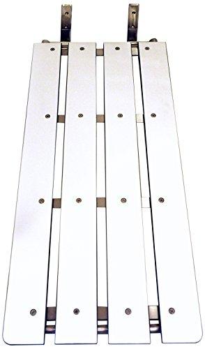 CSI Bathware SEA-TUB3315-NH-PH ADA Bathroom Bath Tub Seat Folding Wall-Mounted Rectangular Phenolic Seat, 33-Inch x 15-Inch, White