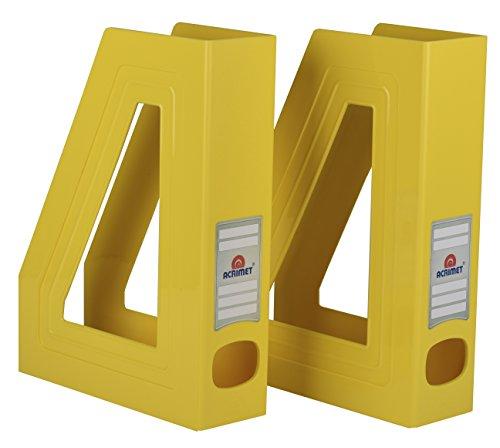 Acrimet Organizador de Revistas y Documentos Plastico (Revistero) (Color Amarillo) (2 unidades)