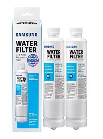 Filtro dell'acqua per frigorifero di ricambio per Samsung DA29-00020B, DA29-00020A, HAF-CIN/EXP, certificato da NSF (2 cartucce)