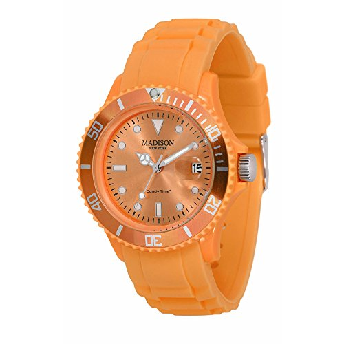 Pastell Orange Madison New York Candy Time Unisex ArmbanduhrOrange
