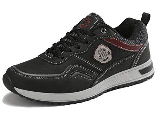 ARRIGO BELLO Vrijetijdsschoenen heren sneakers schoenen wandelschoenen werkschoenen sportschoenen outdoor lichtgewicht trainers maat 41-46 (10.5 UK, DK zwart, numeric_45)