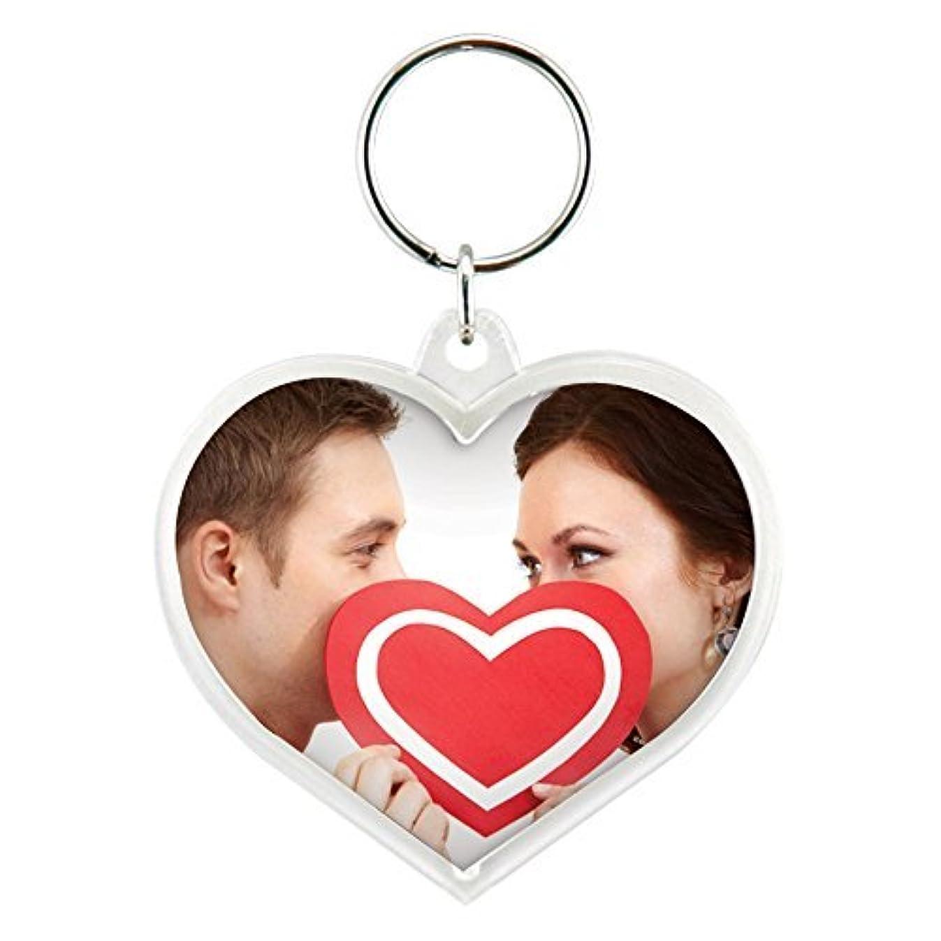 Heart Acrylic Snap-In Photo Keychain (1)